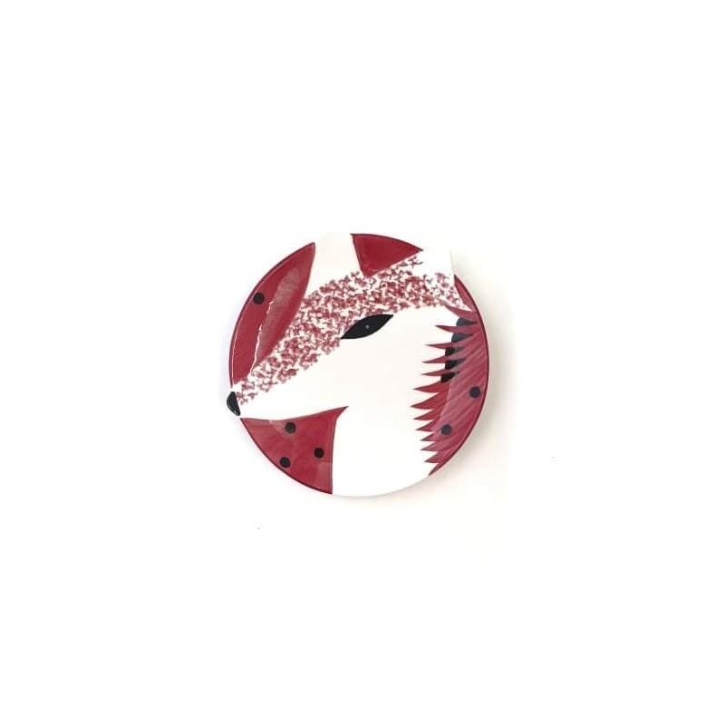 Kerámia tányér /őzikés/