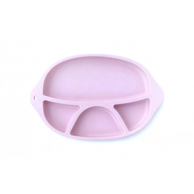 Szilikon tányér  /rózsaszín/
