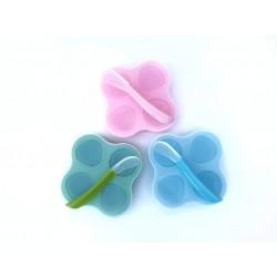 Összecsukható szilikon ételtároló /rózsaszín/