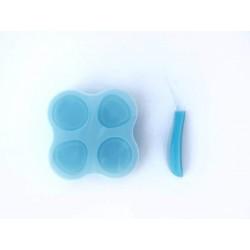 Összecsukható szilikon ételtároló /kék/