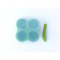 Összecsukható szilikon ételtároló /zöld/