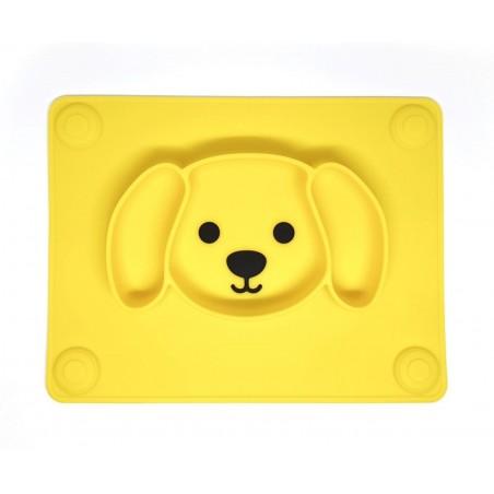 Kutyusos szilikon tányér /sárga/