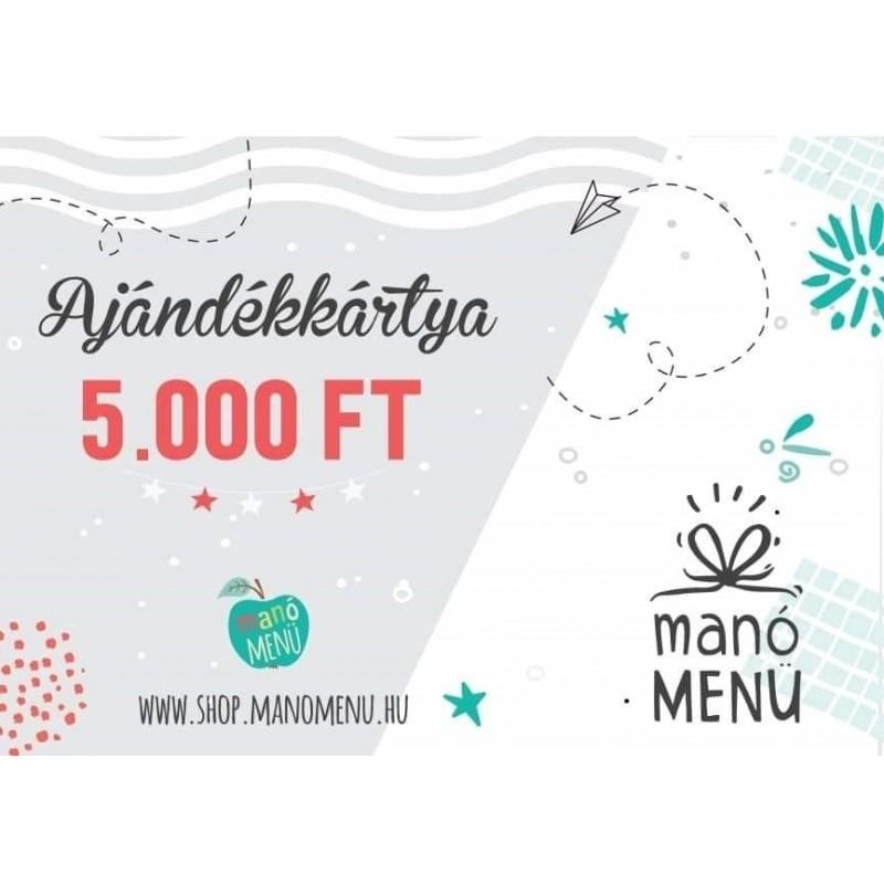 ManóMenü® ajándékutalvány 5000 Ft