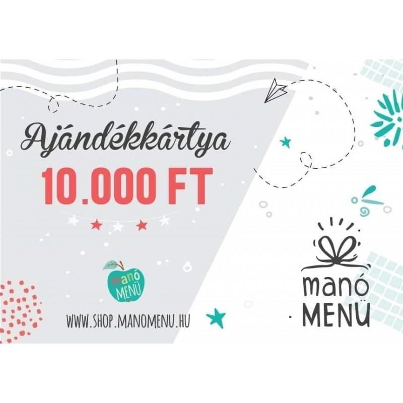 ManóMenü ajándékutalvány 10000 Ft