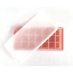 Szilikon jégkockatartó tetővel /rózsaszín/