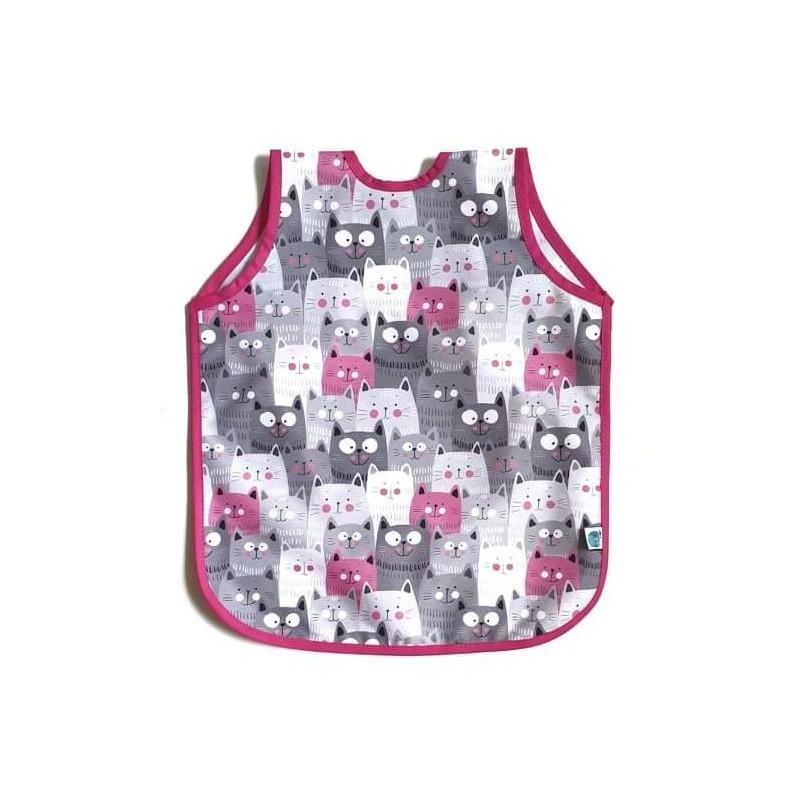 ManóMenü® Előke-kötény Pink cicás /nagy/
