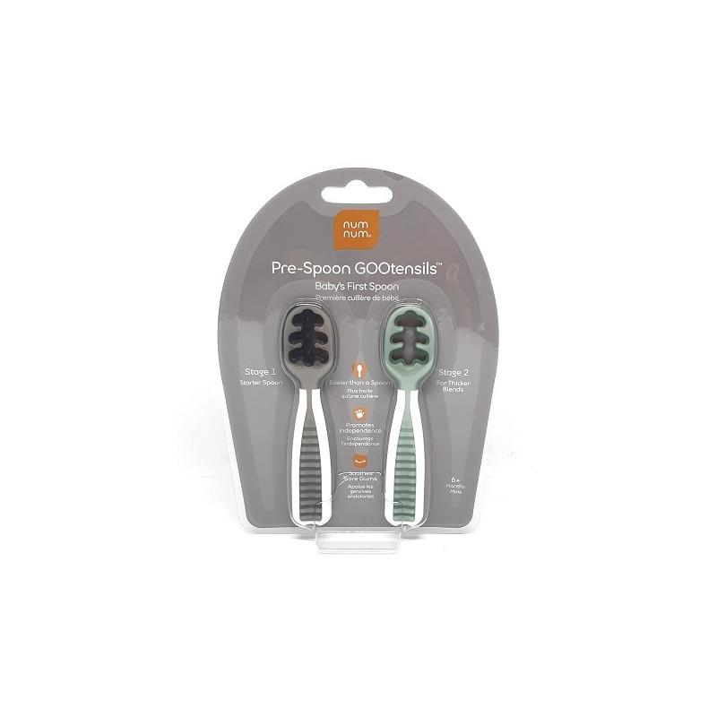 NumNum® szilikon kiskanál /szürke-zöld/